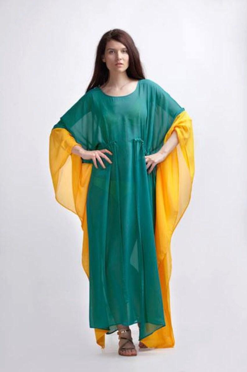 0d10b26162 Festival Clothing Green Maxi Dress Caftan Dress Cover Up | Etsy