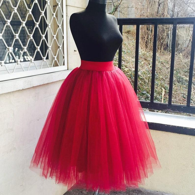 ee8324b1da Tulle Skirt Woman Adult Tutu Skirt Red Tulle Skirt Red Tutu | Etsy