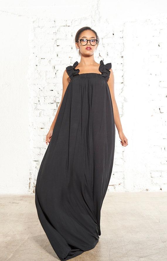 Black Maxi Dress Plus Size Summer Dress Urban Dress Plus Etsy
