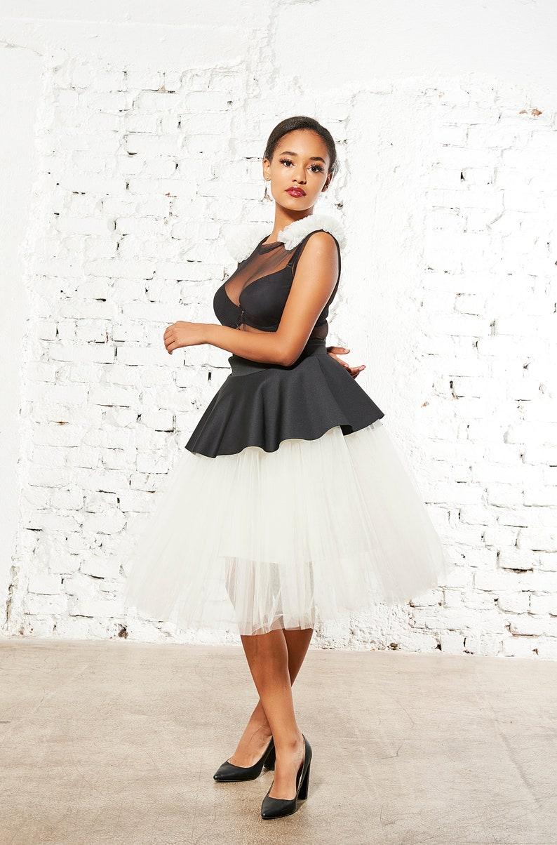24ea26aeab Women Tulle Skirt Bridesmaid Skirt Tea Length Skirt Women | Etsy