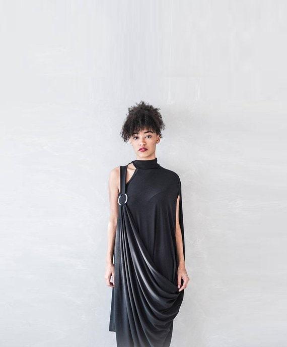 Tunic Dress, Black Tunic, Oversized Tunic, Plus Size Tunic, Avant Garde  Clothing, Extravagant Women Tunic, Loose Tunic, Sleeveless Tunic