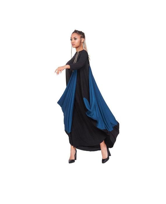 Plus Size Dress, Maxi Drape Dress, Oversized Dress, Women Dress, Steampunk  Dress, Avan Garde Clothing, Asymmetric Dress, Long Trendy Dress