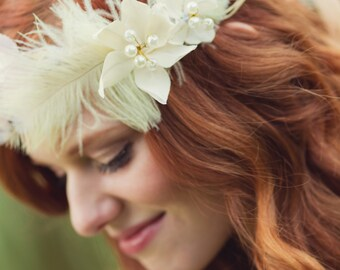 Ardith Blush and Ivory Floral Bridal Headwreath
