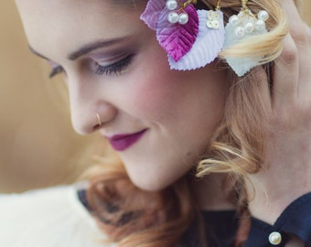 Ellery Bridesmaid/Flower-girl Beaded Leaf Bobby Pins