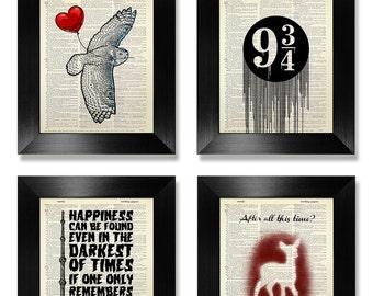 HARRY POTTER GIFT Set Harry Potter Print Of 4 Decor Art Home Poster