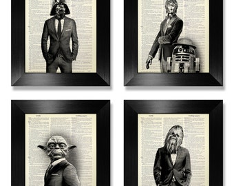 Men Gift For GIFT Ideas Coworker Male Boss Brother Man Cave GIFTS Him Star Wars Wall Art Print