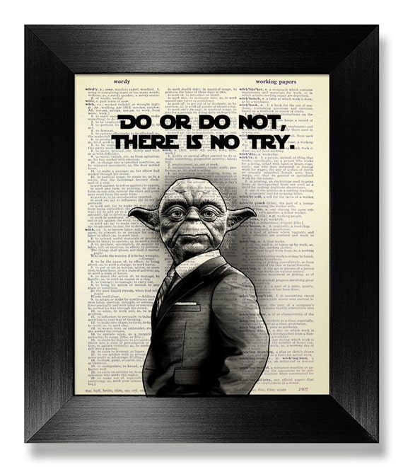 Star Wars QUOTE Poster Gift Man Gift, Inspirational Quote Print, Star Wars  Wall Art QUOTE Art Office Gift, YODA Quote Wall Decal Wall Decor