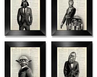 Ensemble de Star Wars impression d'Art, ART STAR WARS, Star Wars Print, impression d'Art murale Star Wars, décor de Star Wars, Star Wars, décoration murale, Starwars cadeau homme