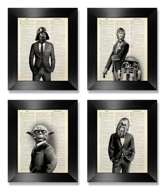 Office Wall Art Set of Prints Star Wars Art Print Set | Etsy