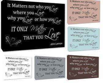 More Colors John Lennon Love Matters