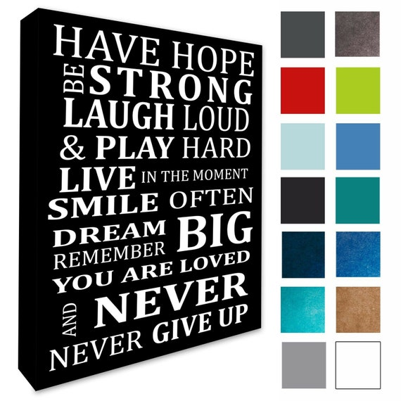 An inspiring Quote Photo print canvas choose your size!