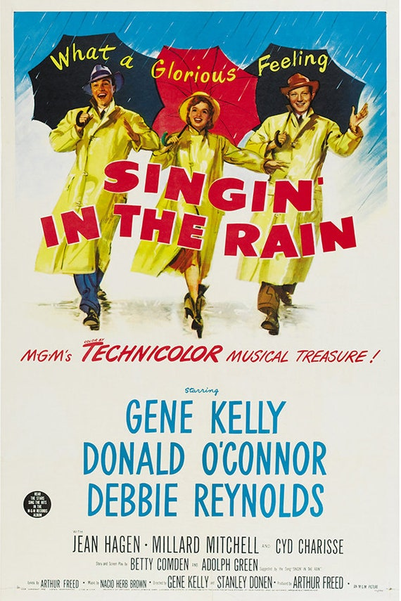 Singing In The Rain A4 A3 Poster Prints Gene Kelly