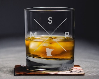 Austin Rocks Glass Austin Whiskey Glass Austin Glass AUS | Etsy