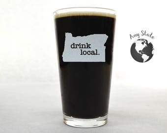 Pint Glass. Pick Any State & Text. Custom Pint Glass. Glassware. Drinkware. Beer Mug. Beer Gifts.