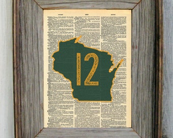 Green Bay Packers Aaron Rodgers Dictionary Art