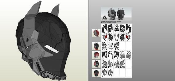 Batman Arkham Knight Helmet-Pepakura