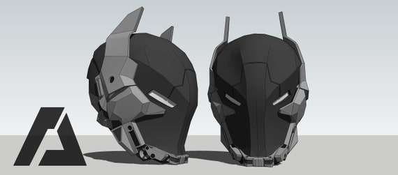 Arkham Knight Helmet Template