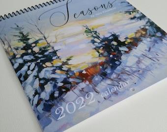"2022 Wall Calendar ""Seasons"" Ontario Landscapes, original oil paintings by Vera Kisseleva, twelve months Available NOW!"