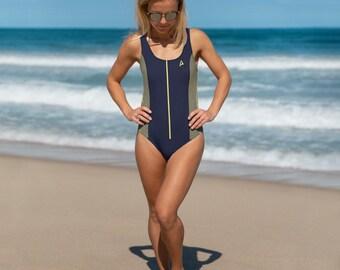 420b52e6087 Star Trek Discovery Starfleet Uniform Styled One-Piece Swimsuit