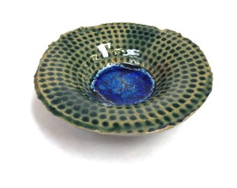 Geo Bowl - Pottery with Glass for the Desk, Office or Coffee Table