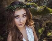 Natur wreath Greenery hair wreath Bridal hair wreath Hair wreath with needles and leaves Hair accessories Flower crown
