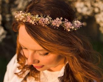 Meadowy headband with oxeye daisy Magaela accessories Bridal headband Floral crown Meadowy crown Hair jewelry Hair wreath Spring wreath