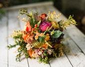 Romantic bouquet Wedding bouquet in fresh colors Flower bouquet in orange-green combination Home decoration Only one original