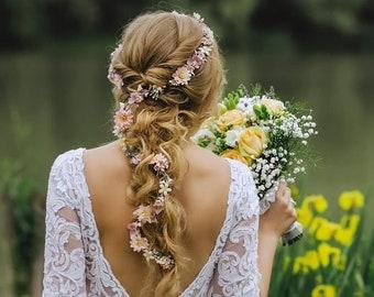 Pink Hair Wreath Etsy