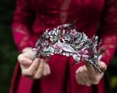 Fairy wedding hair crown Bridal hair crown Magaela accessories romantic hair crown Fairy accessories Wedding hair accessories Handmade crown