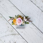 Autumn hair comb Wedding hair comb Gentle autumn colors Romantic hair comb Smaller hair comb Bridal hair jewellery