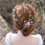 Hair comb Folk hair comb  Meadowy style Magaela Flower floral fairy hair flowers wedding comb bridal hair fashion accessories