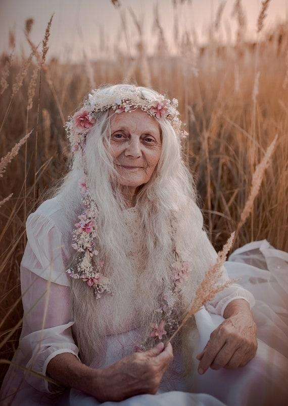 Blumen Fee Haar Girlande Hochzeit Haar Blumen Kopf Kranz Blume Etsy