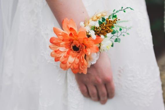 Sommer Hochzeit Armband Blumen Armband Auf Satinband Armband Etsy