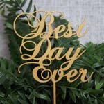 Rustic Wedding Cake Topper - Personalized Monogram Cake Topper - Best day Ever Cake Topper - Keepsake Wedding Cake Topper