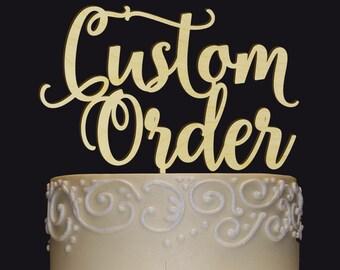 Cake Topper Ideas Etsy