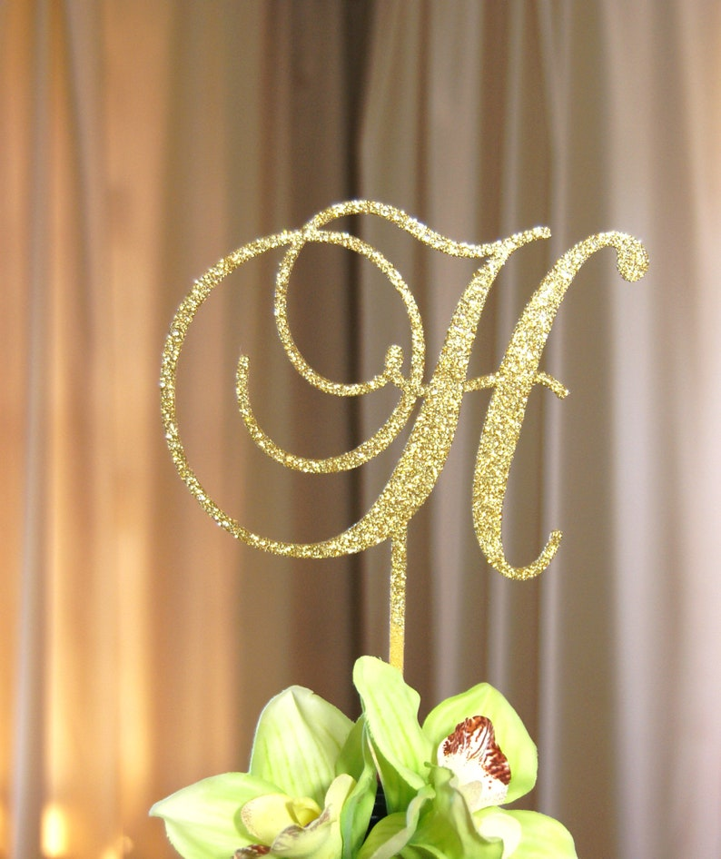 Personalized Monogram  Initial Letter Topper  Bridal image 1