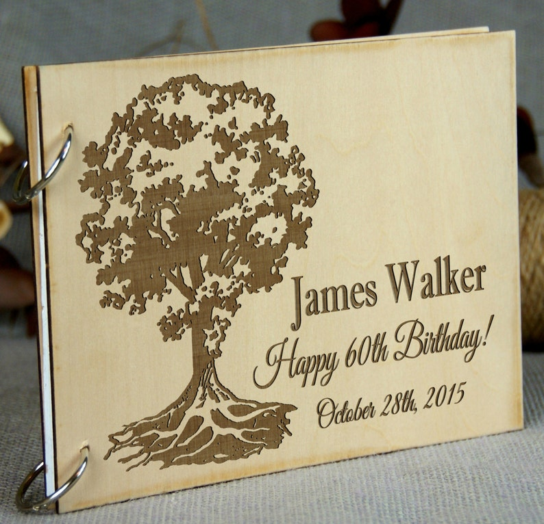 Personalized Birthday  Anniversary guest book Custom design image 0
