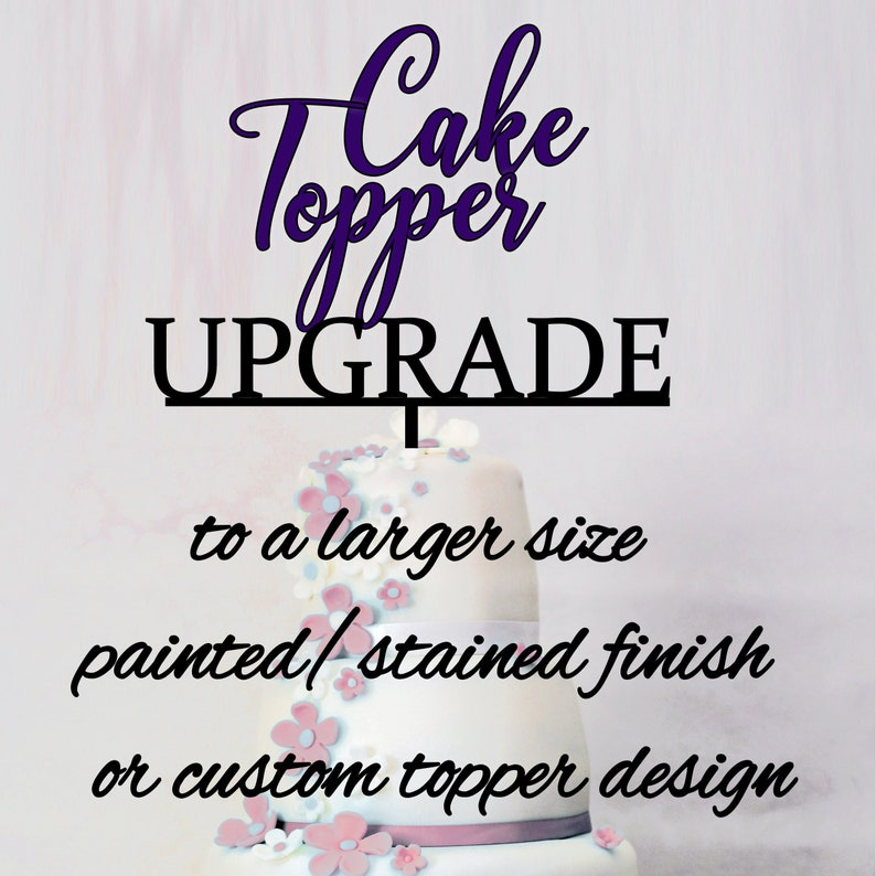 Cake Topper UPGRADE only.  Please see this listing description image 0
