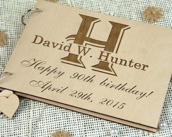 Personalized Birthday - Anniversary - Retirement Guest Book or Memory Book, Personalized Birthday Gift, Photo Album, Retirement Gift, Rustic