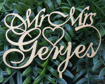Rustic Wedding Cake Topper - Personalized Monogram Cake Topper - Mr  Mrs Cake Topper - Keepsake Wedding Cake Topper