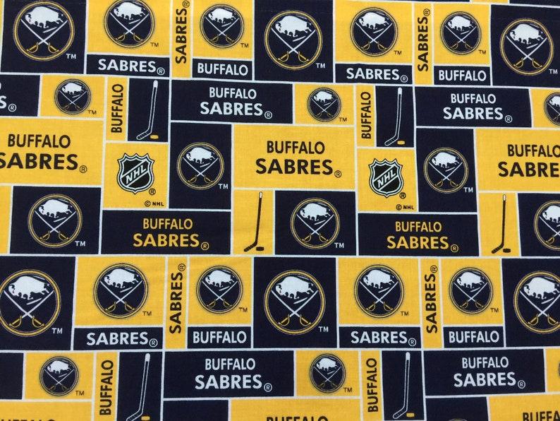 Buffalo Sabres Gold and Blue Hockey Handmade Curtain Valance 41 x 13