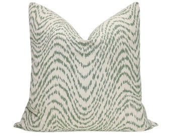Woven Flamestitch // Fern Pillow COVER ONLY