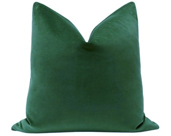 Classic Velvet // Malachite Pillow COVER ONLY | green velvet pillow | green throw pillow | cotton velvet pillow | designer velvet pillows |