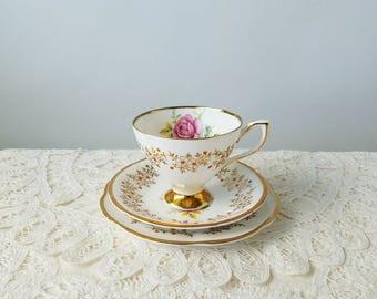 Clare Bone China Tea Trio, Teacup Set