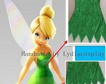 Handmade - Tinker bell Costume, Tinkerbell Costume, Tinkerbell Dress, Tinker bell Dress, Tinker Bell Cosplay Costume Adult/Kid