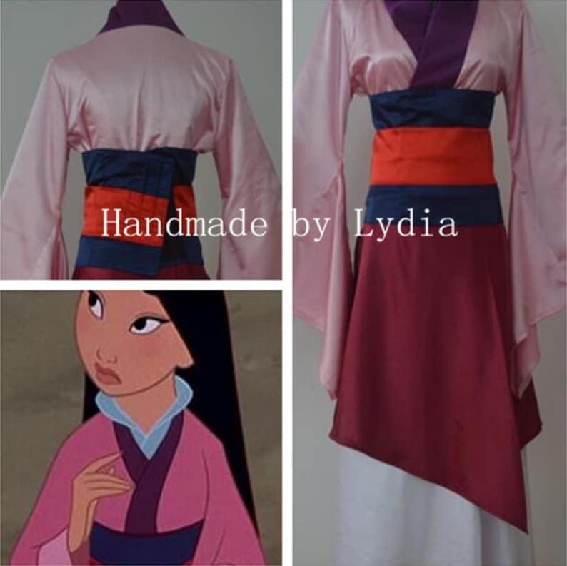 32b557ece1c Hecho a mano traje de Mulan Mulan vestido traje de Cosplay | Etsy