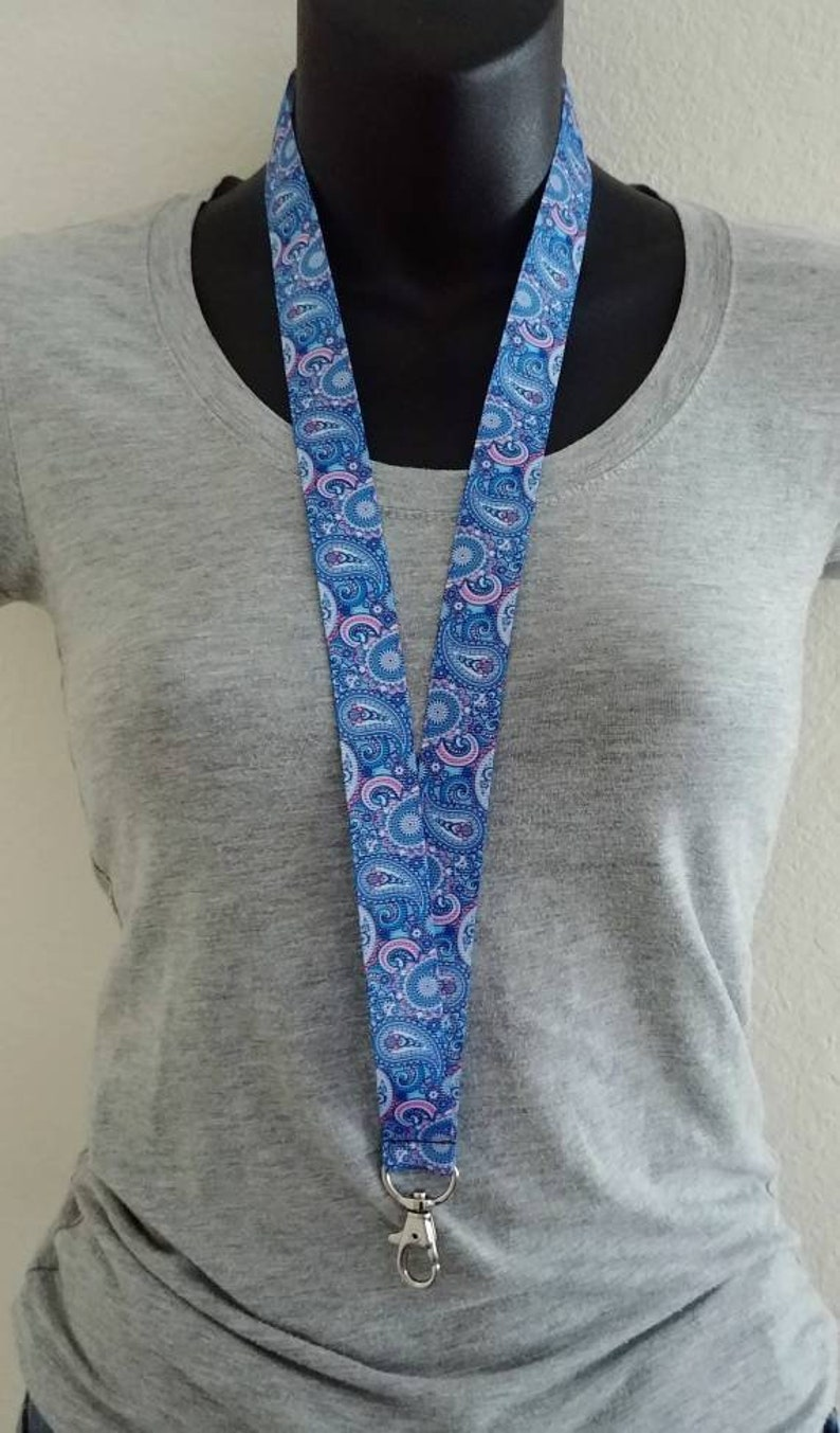 Teacher Appreciation Gift Work ID Badge Cruise Lanyard Stocking Stuffer Gift for Mom Paisley Lanyard Paisley Print Ribbon Lanyard