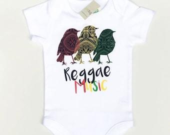6faea16cc Reggae Onesie®, Reggae Baby Clothes, Rasta Baby Shirt, Red Yellow Green,  Reggae Music, Kids Reggae Clothes, Baby Shower Gift, Three Birds