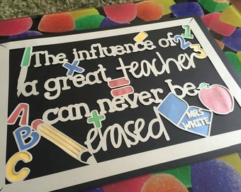 Influence of a Great Teacher papercut template - personal and commercial use