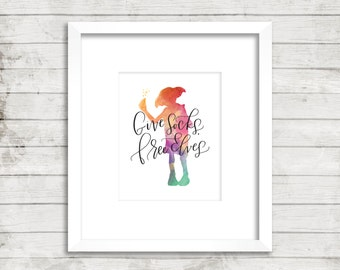 Dobby. Give Socks. Free Elves. Harry Potter Print. Instant Download. Watercolor.  Calligraphy Print. Quote Prints. Home Decor. Wall Art.